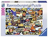 Ravensburger Road Trip USA 1000 Piece Jigsaw Puzzle for Adults - Every Piece is Unique, Softclick Technology Means Pieces Fit Together Perfectly