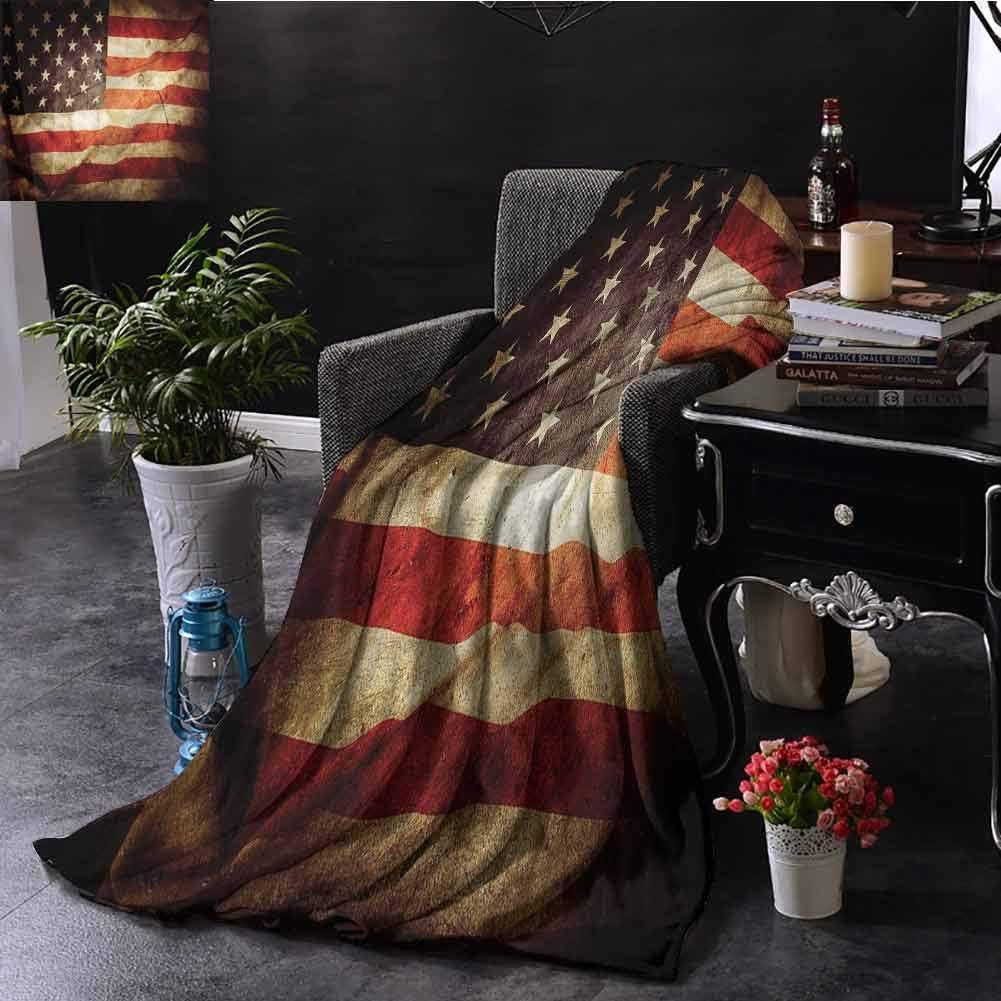 EDZEL Manta de Microfibra cálida con la Bandera de Estados Unidos, Manta de Intercambio de dolares, Regalos para niños y Mujeres