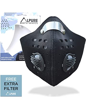 3606ad5188cc Alpure® Anti Pollution Sports Mask - Maximum Pollution Filtration for  Outdoor Sports. Adjustable Strap