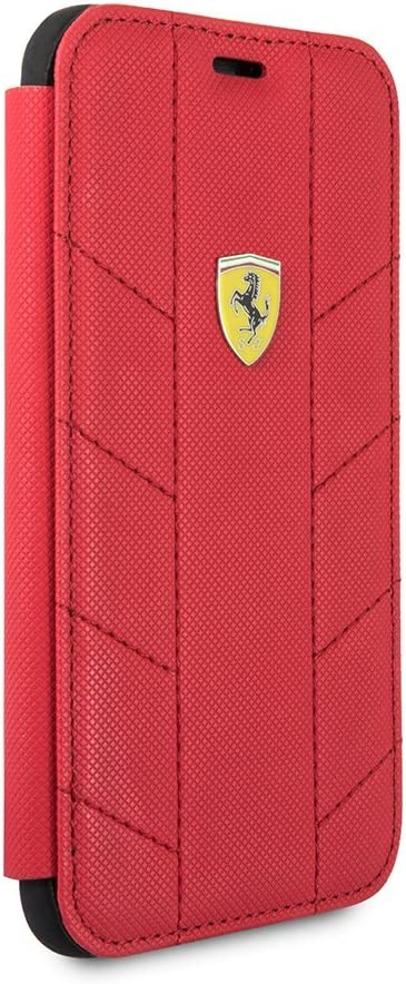 Red CG Mobile Ferrari Bookstyle Hard Case for iPhone X and for iPhone Xs Hard Cell Phone Cover Easy Snap-on Shock Absorption Cover Officially Licensed.
