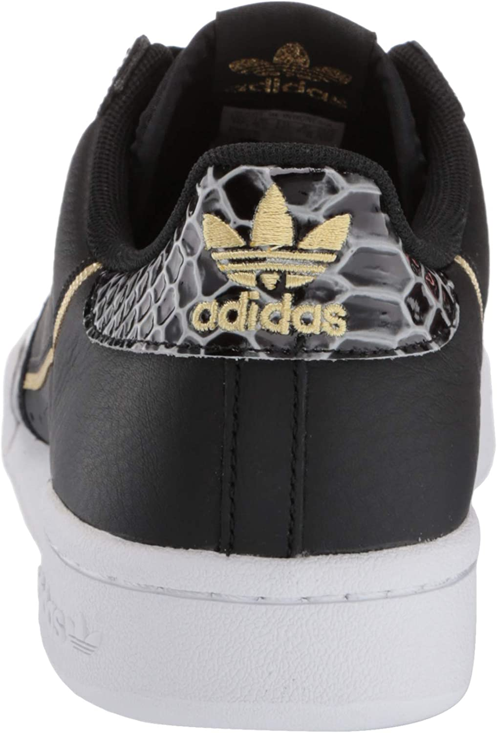 adidas Originals Damen Continental 80 W Niedrig Core Black Ftwr White Gold Met