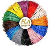 3D Pen Filament Refills, 1.75mm 395 Linear Feet PLA Filament, Pack of 12 Colors, 32.9FT Each Color, Smoke-Free and Eco-Friendly Material by SUNUNICO