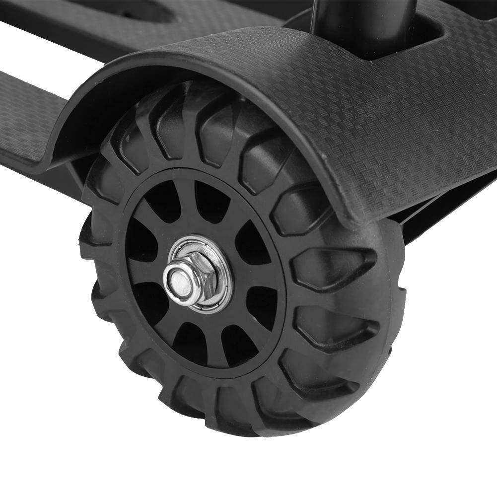 Wosume Luggage Cart,Portable Folding Luggage Cart Hand Trolley Wheel Truck Heavy Duty 75kg Load Capacity