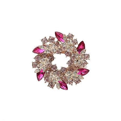 8fd77bb697e Elehere Art Deco Crystal Brooch for Wedding Dress, Bridal Sash, Statement Rhinestone  Pin,