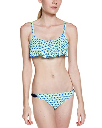 b4902f9f458d3 Amazon.com: Splendid Women's Pop Geo Retro Pant Blue Swimsuit ...