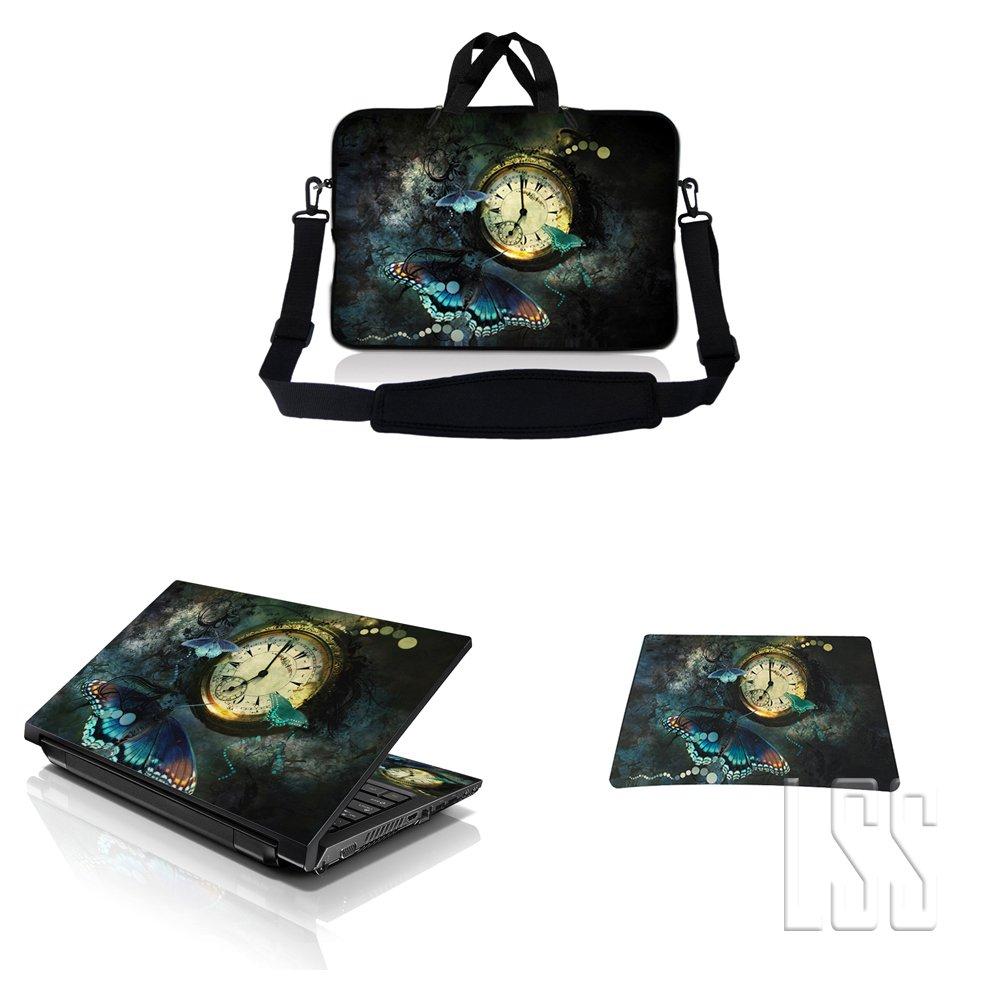 大洲市 ノートパソコン& MacBook ProスリーブバッグキャリーケースW/ハンドル&調節可能なショルダーストラップ& B00OBYI5QM Matchingスキンステッカー&マウスパッドFits 16 MacBook