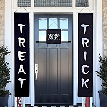 Halloween decorations for the office Diy Halloween Decorations Trick Or Treat Porch Halloween Banner For Home Office Patio Front Porch Indoor Amazoncom Amazoncom Halloween Decorations Trick Or Treat Porch Halloween
