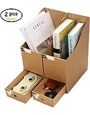 CAVEEN Revistero Archivador con Cajón Caja de Almacenamiento de la Oficina Organizador de Documentos Papelería Revista