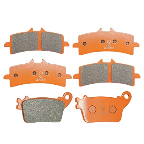 Amazon.com: Lefossi Front Rear Carbon Fiber Brake Pads ...