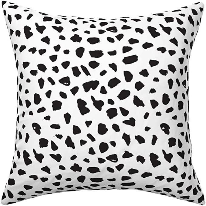 Big Dots Abstract Black And White Spots Fabric Printed by Spoonflower BTY