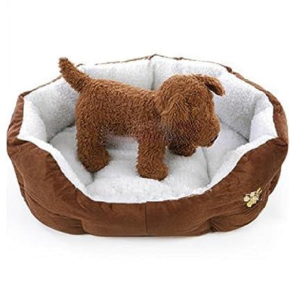 Japace® Solo Perro Casa Mascotas Cama Saco de Dormir Cálido Perrera con Cojin Estera Algodón