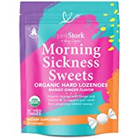 Pink Stork Morning Sickness Sweets: Ginger Mango Morning Sickness Relief Candy for...