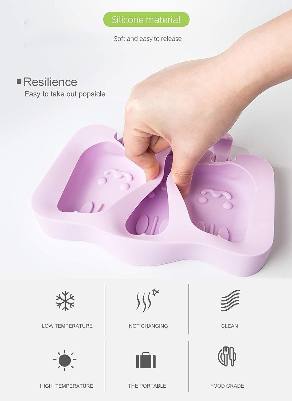 para ni/ños sin bisfenol A Moldes de helado para helado de helado moldes de paletas en 3D caseros 3 paletas 150 paletas