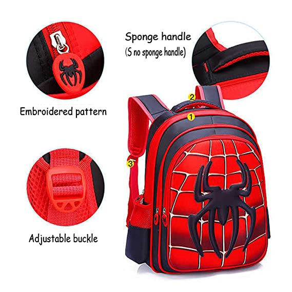 Amazon.com | Childrens School Backpack Lightweight Teens Backpacks Spider-Man Captain America For Boys And Girls School Bags 3-15 Year Old, Spiderman-L ...