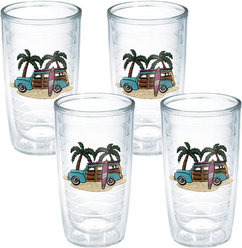 Tervis Tumbler Woodie 16-Ounce Double Wall Insulated Tumbler, Set of 4 - 1035990