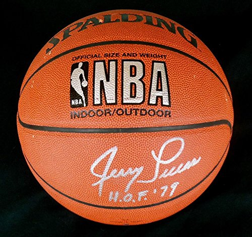 Lucas Autographed Basketball (Jerry Lucas Autographed Basketball (new York Knicks) W/ Proof! - Autographed Basketballs)