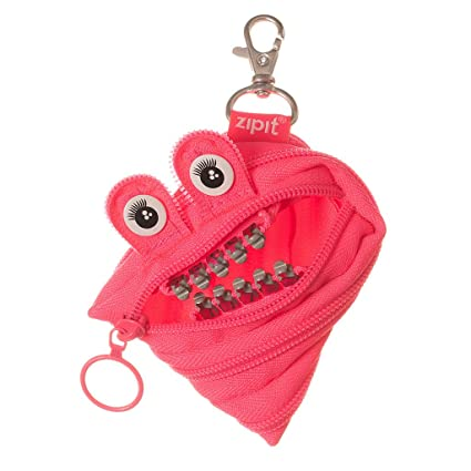ZIPIT Grillz Coin Purse, Pink: Amazon.es: Oficina y papelería