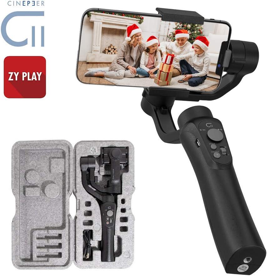 CINEPEER C11 3-Ejes Gimbal Estabilizador para iOS/Android Smartphone 11/11 Pro/MAX/X,Galaxy S10+ / S10,Huawei P30,Xiaomi.Moviles Estabilizador Video Estable de Filmación,Fotografía