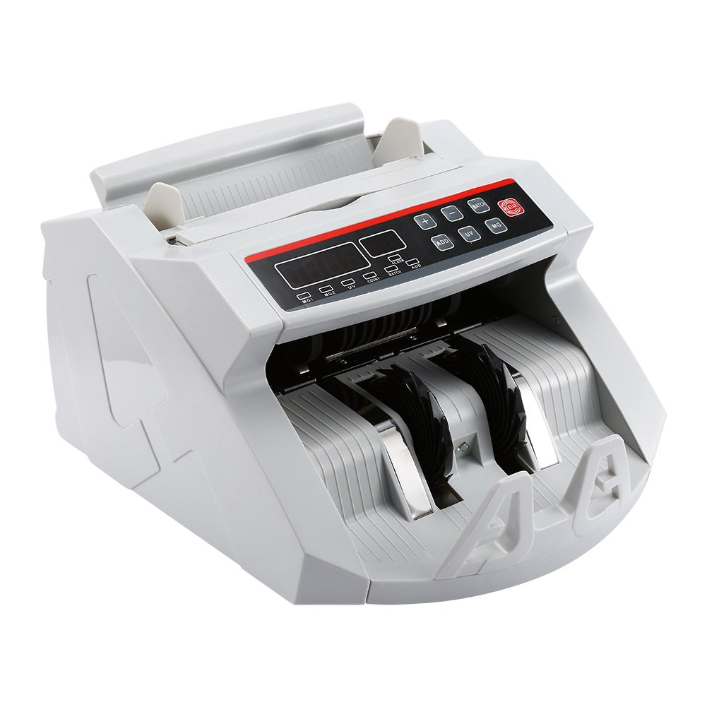 Money Counter Bill Counting Machine,Bank Counterfeit Detector Cash Counting Machine Banknote Currency Cash Counter