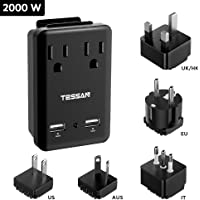 TESSAN 2000W Universal Travel Adapter Kit