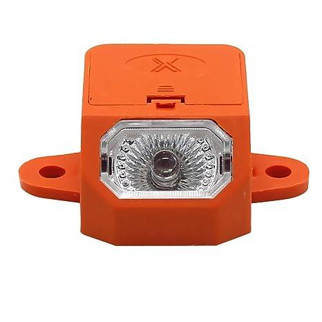 Homyl Cobertizo de Almacenamiento de Asiento de Cubo para Motocicleta Light Barrel - Naranja