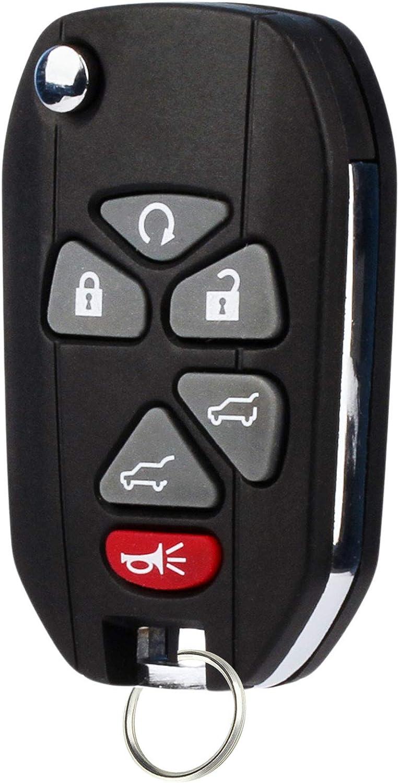 Flip Key Fob fits 2007-2013 Cadillac Escalade//Chevrolet Suburban Tahoe Keyless Entry OUC60270