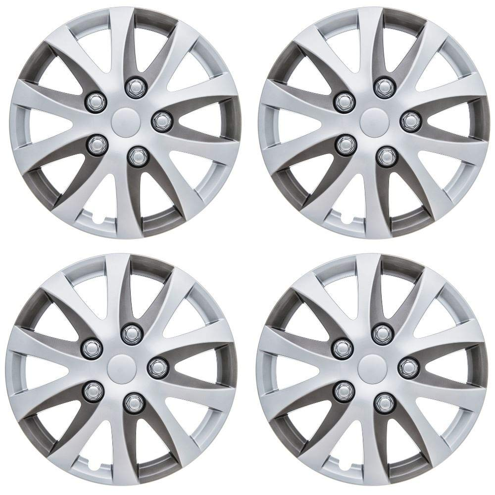 UKB4C Set of 4 Wheel Trims/Hub Caps 15' Covers fits Ford Fiesta Focus KA Figo