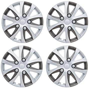 "UKB4C Set 4 Wheel Trims Hub Caps 15"" Covers fits Peugeot 207 308 ..."
