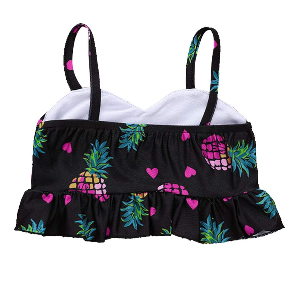 AZXAZ Two-Piece Swimsuit for Kids Girls Pineapple Print Beach Tankini Bikini Summer Swimwear