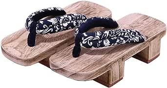 Fancy Pumpkin Zapatos tradicionales japoneses Zapatillas de cosplay Zapatillas de madera Zueco Geta Sandalias