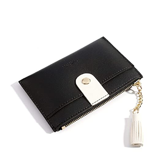4f68b41f9e0 Small Wallets for Women Slim Leather Card Case Holder Cute Change Purse for  Girls with ID Window