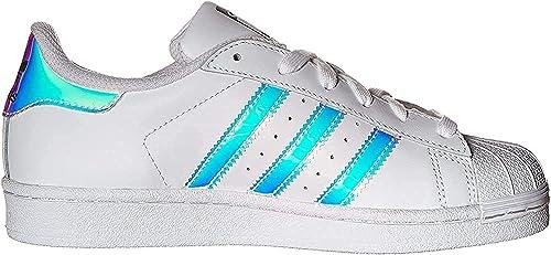 adidas Originals Superstar, Scarpe da Ginnastica Uomo, Bianco, Bianco, Argento Metallizzato, 39 13 EU