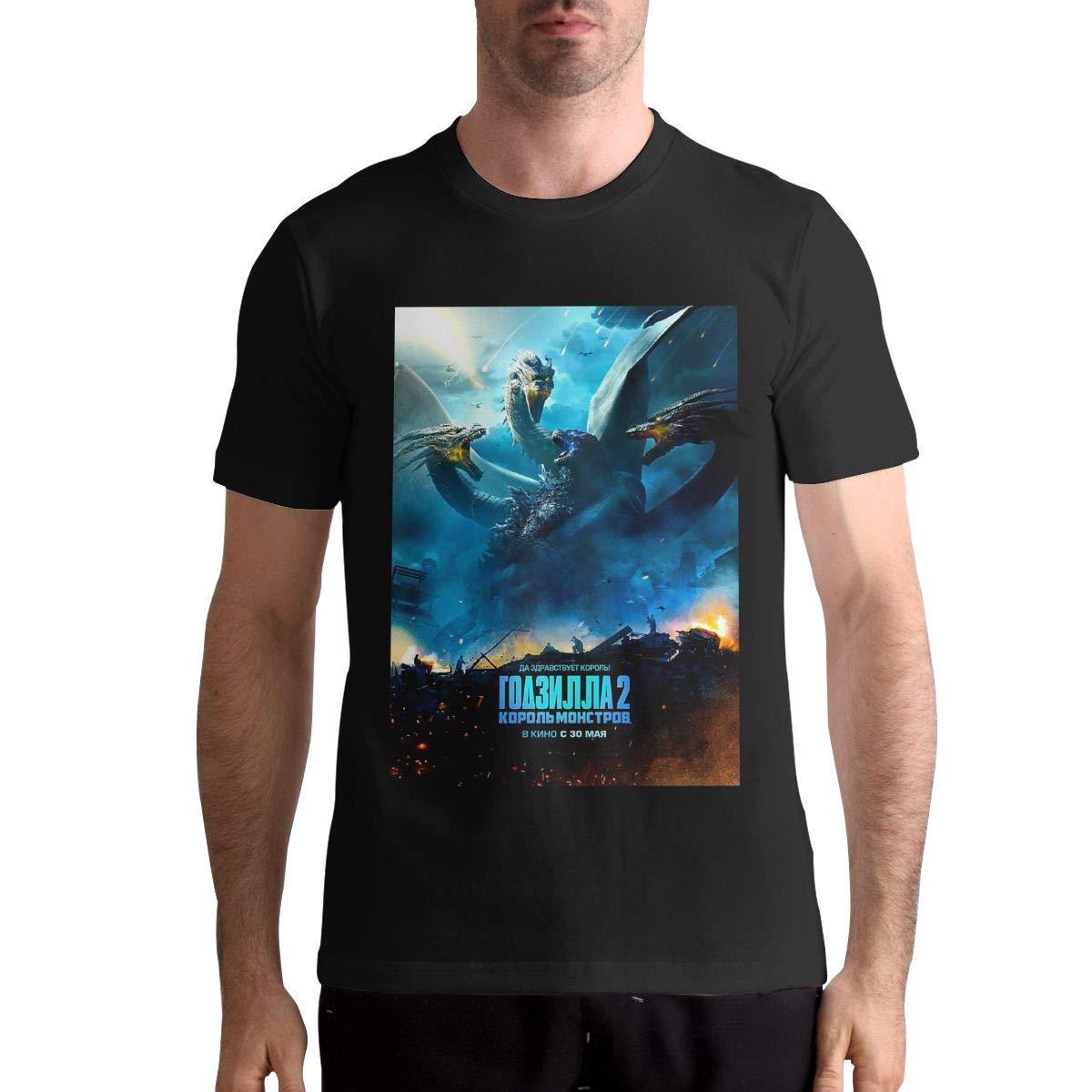 Godzilla King Of The Monsters T Shirt S T Shirt Fashion Sports Tops Round Neck Short Sleev
