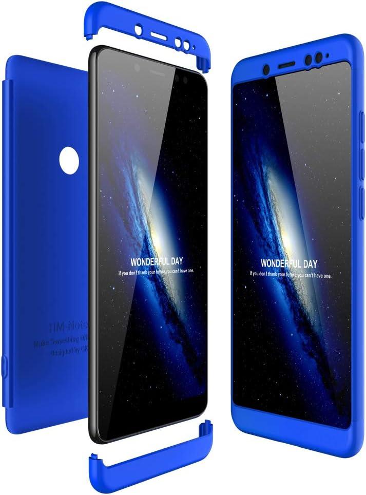 Custodia Case Gomma Blu Cobalto Guscio Posteriore Back Xiaomi Redmi Note 9