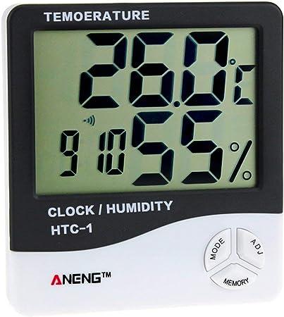 MachinYesell Thermom/ètre num/érique professionnel LCD Thermom/ètre Hygrom/ètre Humidit/é Temp/érature M/ètre Capteur daffichage num/érique LCD int/érieur