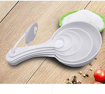 Compra 5pcs Cuchara Dosificadora Compacta De Plástico Blanco ...