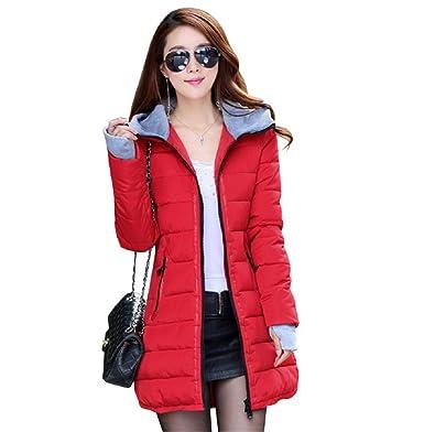 Anorak Marta, anorak de mujer con capucha de invierno, montaña, abrigo ceñido, relleno de algodón rojo X-Large : Amazon.es: Ropa y accesorios