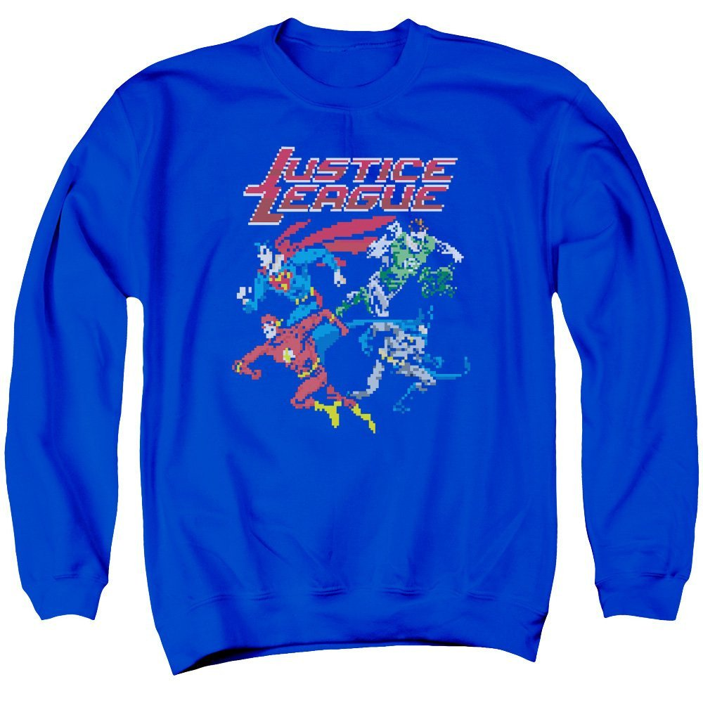Pixel League Adult Crewneck Sweatshirt Justice League of America