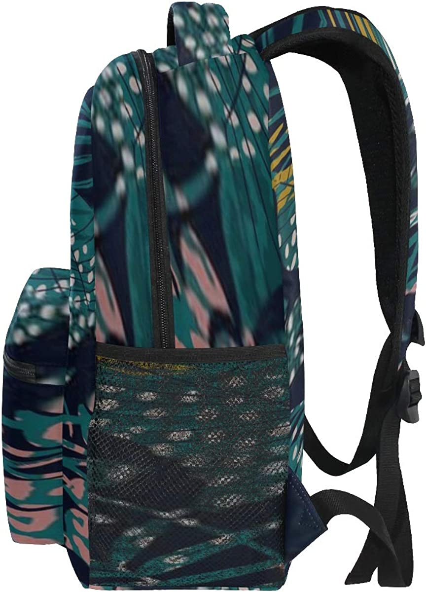 Backpack Bag Trendy Seamless Exotic Pattern Tropical Plants Backpack For Women Waterproof Casual Daypacks For Young Girls