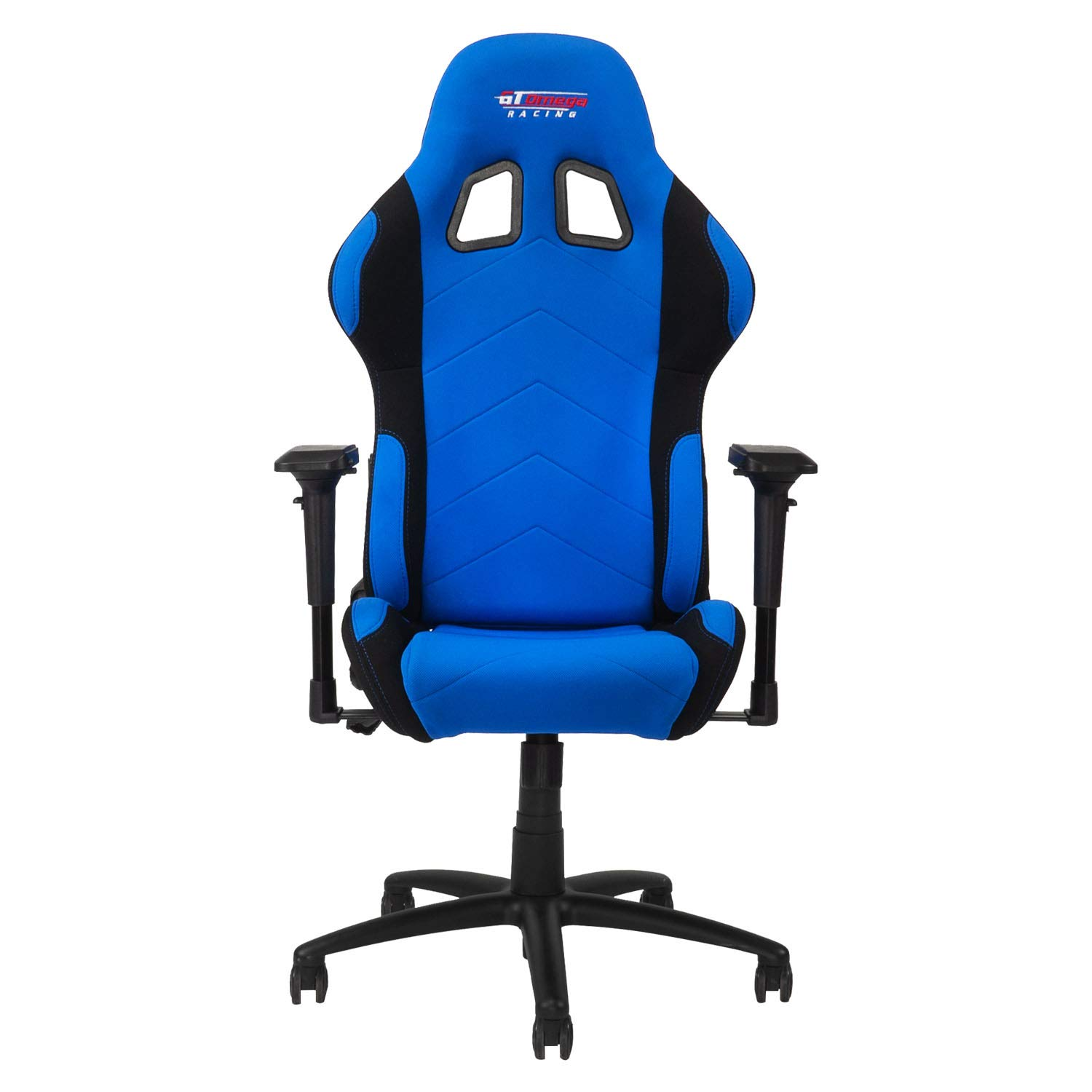 GT Omega PRO Racing Fabric Gaming Chair with Lumbar Support – Breathable Ergonomic Office Chair with 4D Adjustable Armrest Recliner – Esport Seat for Ultimate Gaming Experience – Blue Next Black