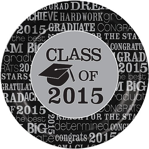 Graduation 2015 Dream Big Dinner Plates Package of 50.