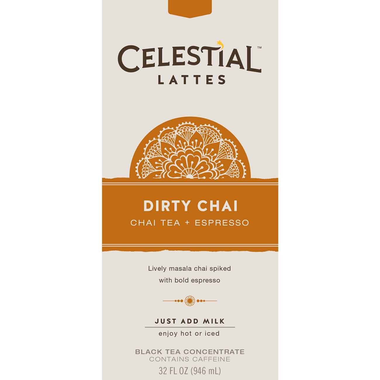 Celestial Seasonings Dirty Chai Tea Latte Concentrate, 32 oz. (Pack of 6)