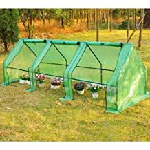 "Outsunny 106.3""x35.4""x35.4"" Portable Greenhouse Tunnel Plants Flower Warm Green House, Green"