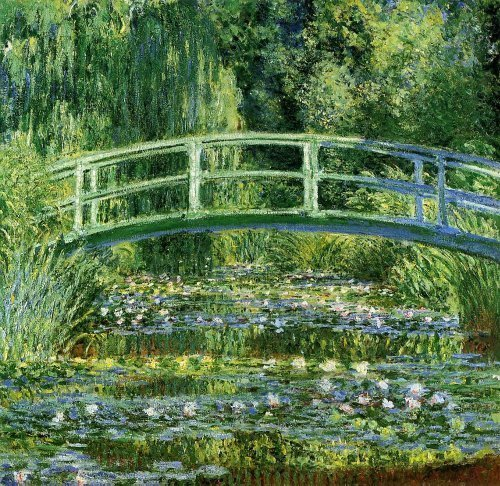 Waterlilies and Japonese Bridge Jigsaw Puzzle (500 pieces)