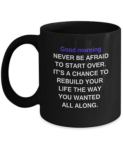 Amazoncom Good Morning Wishes Black Mugs Funny Quotes