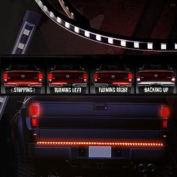 60 inch truck tailgate light bar led redwhite brake reverse turn 60 inch truck tailgate light bar led redwhite brake reverse turn signal stop tail aloadofball Images