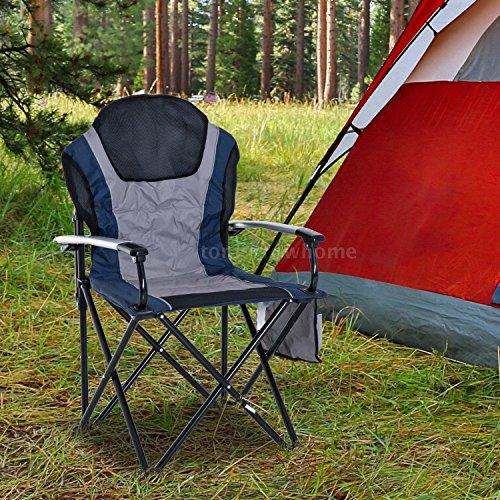 Aluminum Outdoor Folding Padded Camping Chair Garden Picnic Fishing Seat w/I9X2 (Aluminum Nesting Chair)