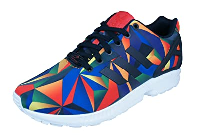 5c91389f523 Amazon.com | adidas Originals ZX Flux Macro Prism Trainers - Multi ...