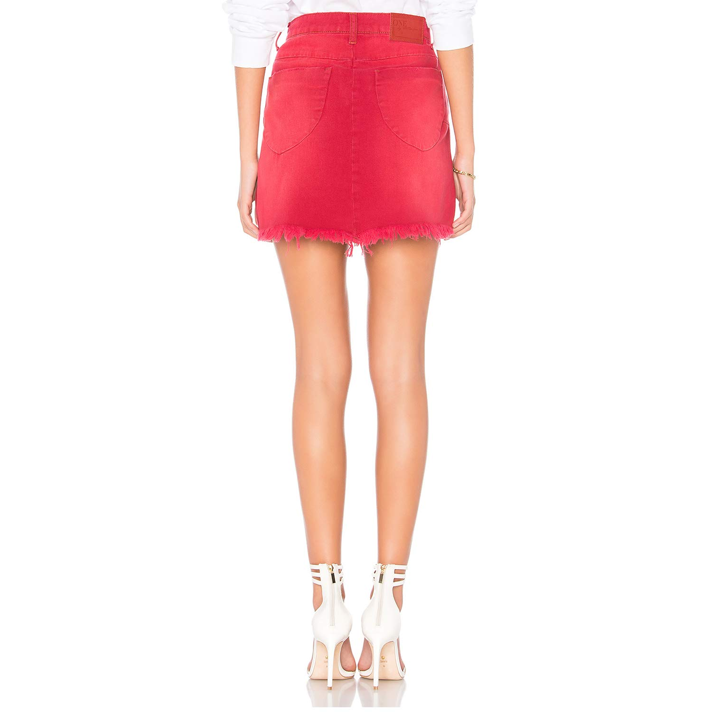 9d96a81eb1963b One x OneTeaspoon Womens Vanguard Hi Waist Denim Skirt Red Envy 28 at  Amazon Women's Clothing store: