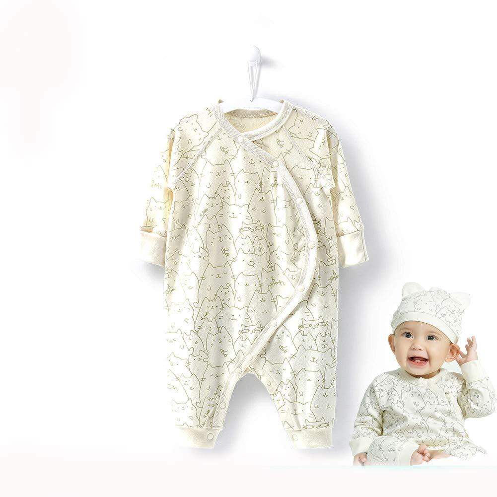 COBROO Newborn Baby Clothes Sleepwear 0-24 Month Baby Romper Cat Pattern Baby Pajamas Le En CA-NY550078